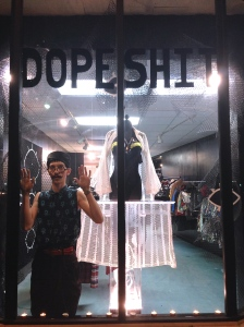 "Sebastian started Dope Shit as a pop-up in 2012 after he had ""amassed so much dope clothing [he] had to start selling it...There was no room left!"""