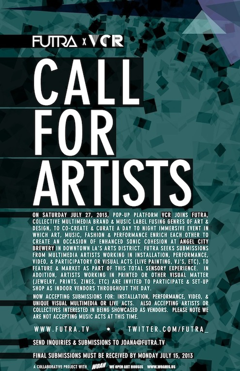 Artist & Artisan Call thru Monday, July 15th!
